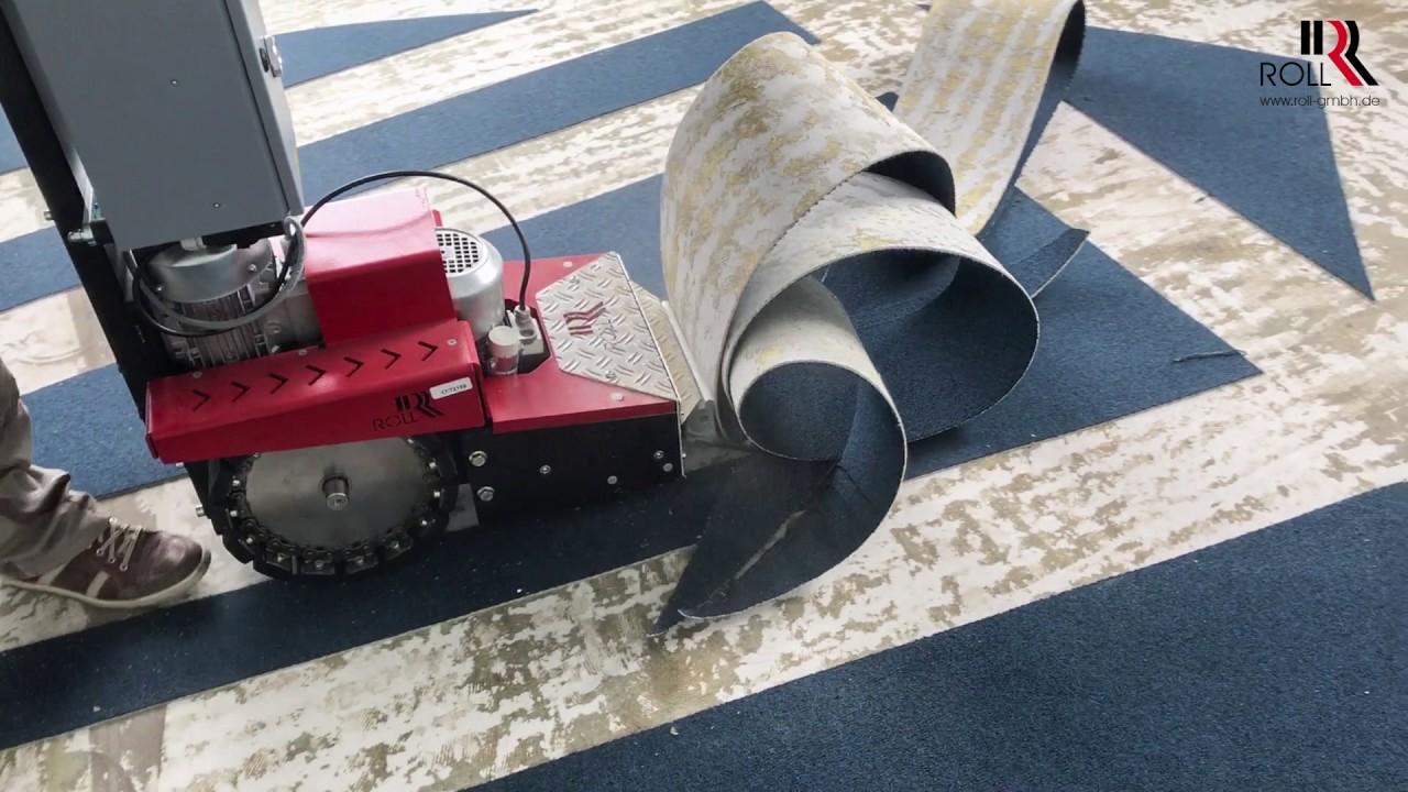 Entfernen Vom Verklebten Schlingen Teppichboden Vom Untergrund Youtube