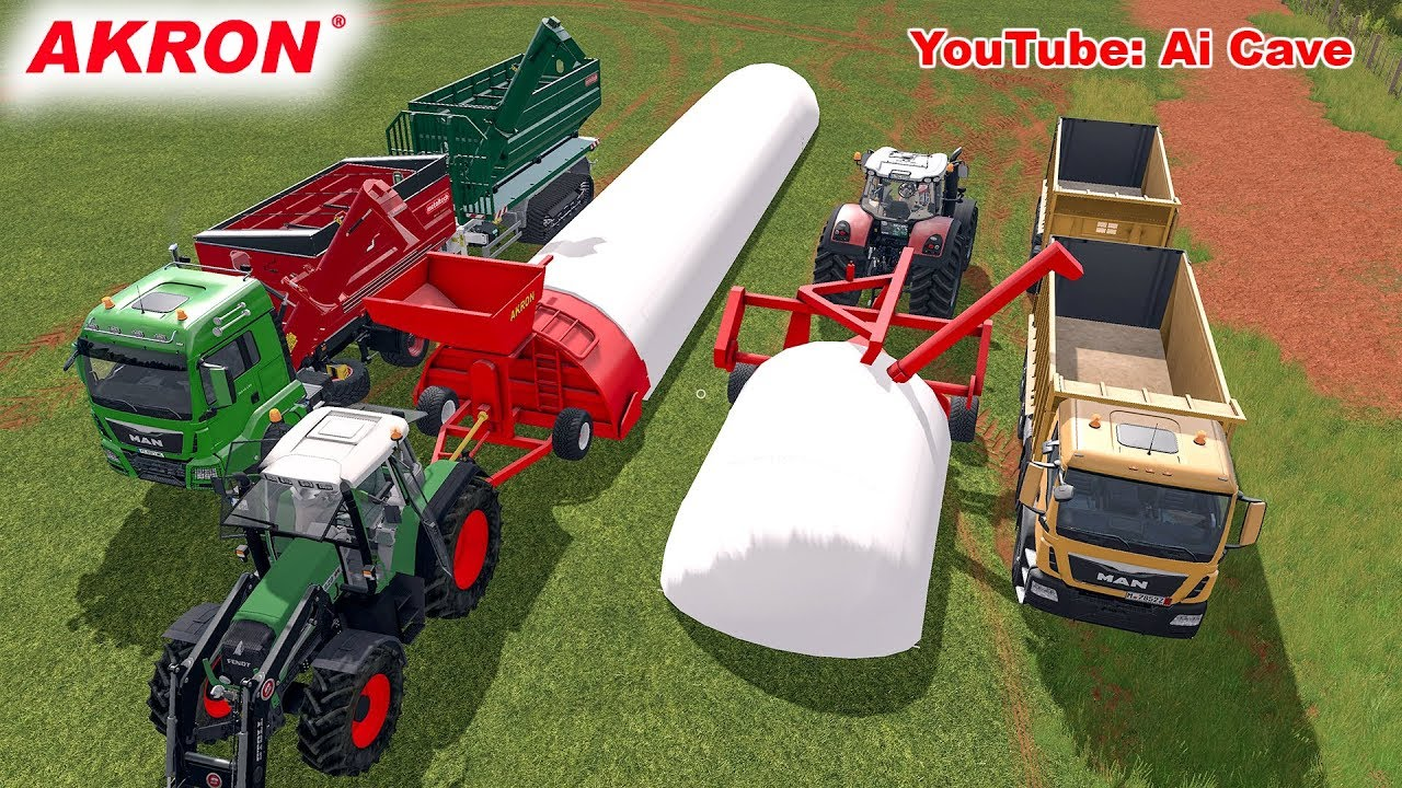 Farming Simulator 2017 Mods - How To Use Akron Grain Baggers With Truck And  Tractors  Ai Cave