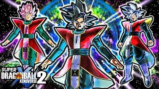 NEW OMNI GOKU BLACK DESIGN PACK - Dragon Ball Xenoverse 2 Goku Black Omni Gameplay (ALL FORMS)