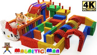 DIY - How To Build Playground for Hamster with Magnetic Balls Satisfaction 100%   Magnetic Man 4K