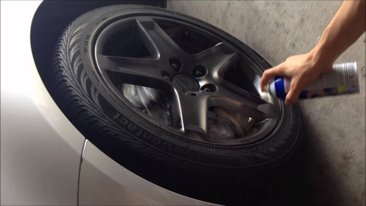 Plasti Dip Painting Wheels On Acura TL YouTube - 2006 acura tl wheels
