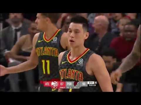 Jeremy Lin Highlights - Blazers vs Hawks - 1/26/2019