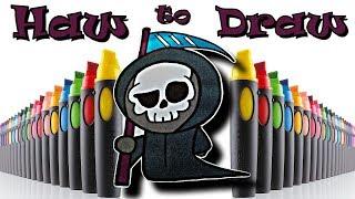 Как нарисовать смерть с косой How to draw cute grim reaper Рисуем просто и красиво