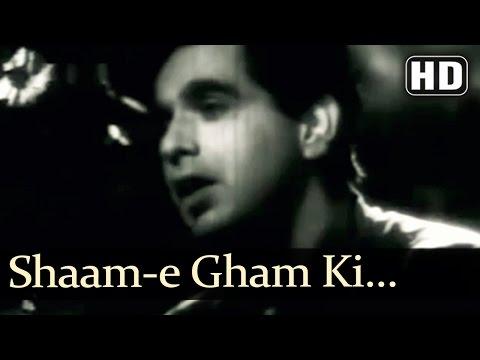 Shaam-e Gham Ki Qasam Aaj - Footpath Songs - Dilip Kumar - Meena Kumari - Talat Mahmood