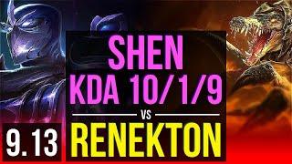 Download SHEN vs RENEKTON (TOP) | 2.3M mastery points, KDA 10/1/9, 1300+ games | Korea Diamond | v9.13 Mp3 and Videos