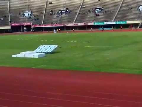 Gerren Muwishi( Bhiza) anchors 4x100m for Team ZUSA to clinch  ZTISU 2017 Gold