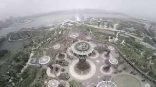 gardens by the bay Singapore aerial flying phantom 2
