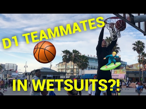D1 BASKETBALL TEAMMATES PRETEND TO BE SURFERS PRANK!! DESTROYING IN WETSUITS! HILARIOUS! PART 2!