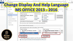 ?? How to Change the default Display Language in MS OFFICE 2013 - 2016