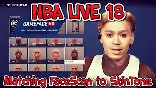 NBA LIVE 18 TUTORIAL: Matching Facescan to Body Skin Tone!
