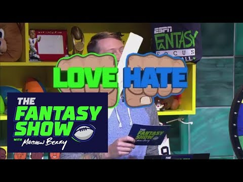 Love/Hate: Running back edition | The Fantasy Show With Matthew Berry | ESPN
