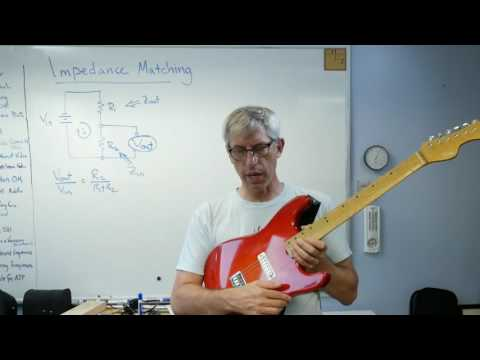 Why Can't I Listen to an Electric Guitar with Ear Buds?  Impedance Matching - Brain Waves