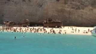 Beatifull beach Navagio  Zante Greece.  Ναυάγιο Ζάκυνθος.
