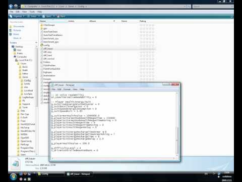 Crysis How to add Crysis Cheats on Config FIle