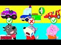Wolf Family⭐️Wolfoo Playing Assembles Appropriate Police Car 🚔 | Kids Cartoon
