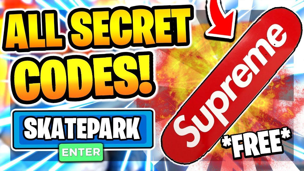 All New Secret Op Codes In Skate Park Beta Roblox Skate Park