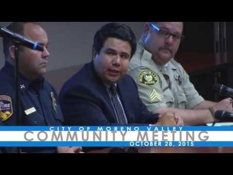 City of Moreno Valley Meeting on El Niño Storm Preparations