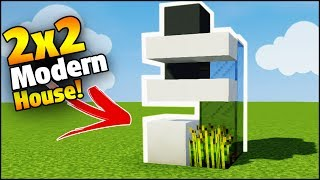 Minecraft: 2X2 Modern House Tutorial - How to Build a House in Minecraft (Smallest Minecraft House)