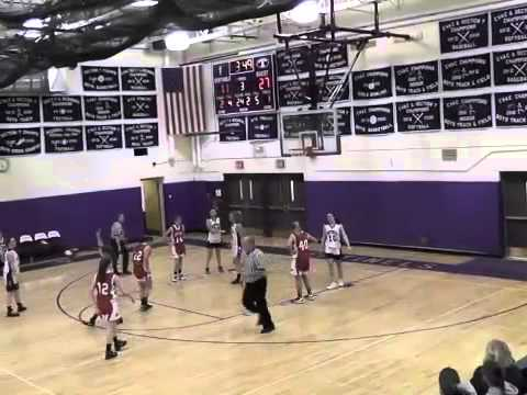 Saranac Girls JV Basketball  1-24-13