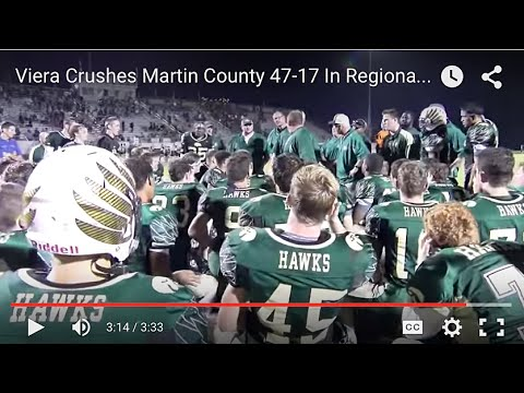 Viera Crushes Martin County 47-17 In Regional Semifinals Playoff Game