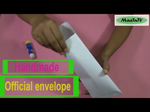 How to make an envelope   Origami   Easy paper cutting   Step by step   DIY – MaaTuTV