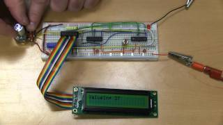 Repeat youtube video PicBasic Pro A/D conversion, serial communication, and LCD output