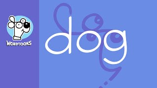1 Line To Draw The Word Dog Into A Dog - Wordtoon Dog 1 Line