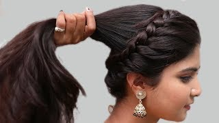 Easy Wedding Hairstyles | Puff Hairstyles | hair style girl || easy hairstyles 2018 | New hairstyles