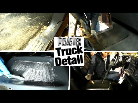 GMC Sierra DISASTER Interior Detail   Deep Cleaning A Filthy Work Truck