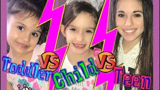 Child vs teen videos have been trending so now you can watch our ta...