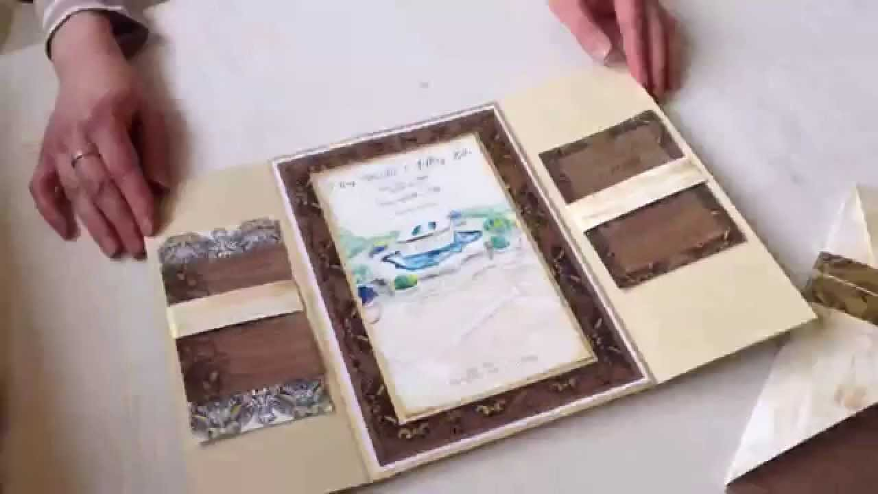 Gatefold Wedding Invitation With Hand Painted Artwork Youtube