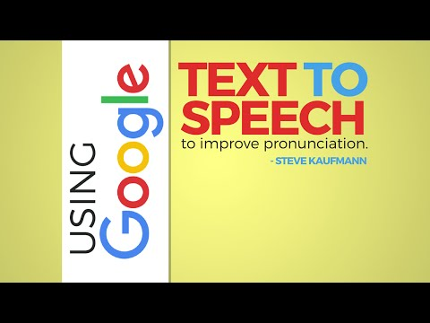 Using Google Text to Speech to Improve Pronunciation - YouTube