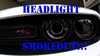 The Blackout Continues!!!! Challenger Headlights get Blacked Out....