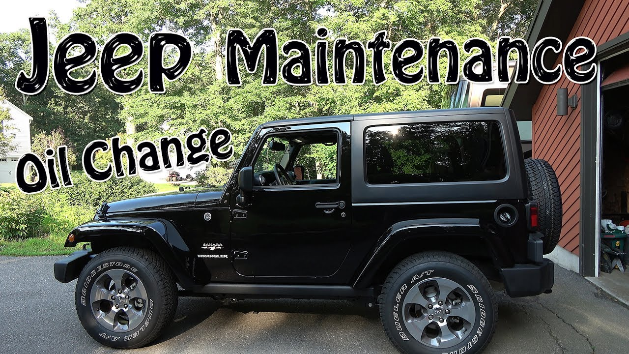 2017 jeep wrangler jk oil change in 4k - youtube