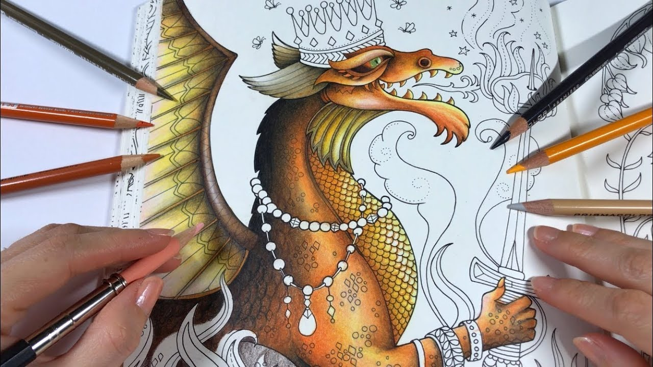 Dragon Coloring Ivy And The Inky Butterfly Coloring Book Youtube