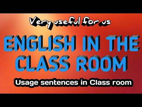 THE CLASS ROOM ENGLISH