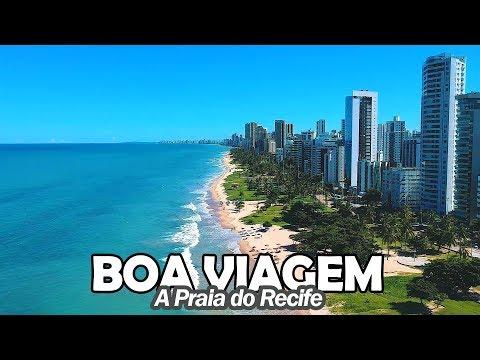 A Praia de Boa Viagem - A Praia do Recife - Visitei o palco do filme Aquarius - Pernambuco