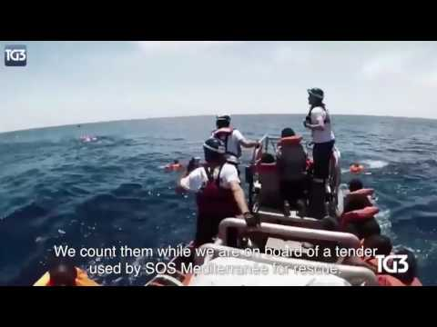 24 05 2017: Attack on refugee boat by Libyan coastguards