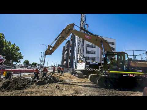 Port Adelaide Government Office Development - Construction Time-lapse Jan - March 2017