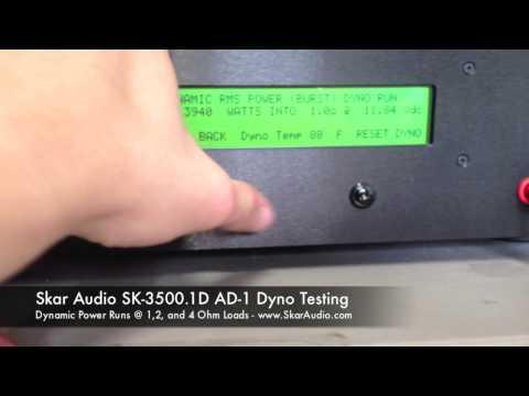 AMP DYNO TEST SMD AD-1 Skar Audio SK-3500 1D