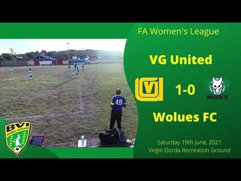 FA Women's League, VG Utd 1-0 Wolues FC, Saturday 19th June, VG Recreation Ground.