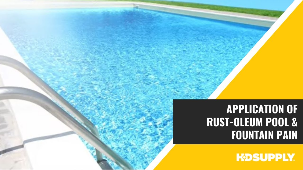 Rust Oleum Pool Fountain Paint And Pool Clean Prep Solution Hd Supply Facilities Maintenance Youtube