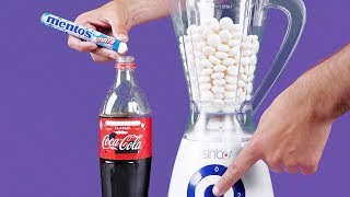 Blender VS Mentos & Coca Cola 11 CRAZY EXPERIMENTS