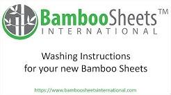 Bamboo Sheets International Washing Instructions