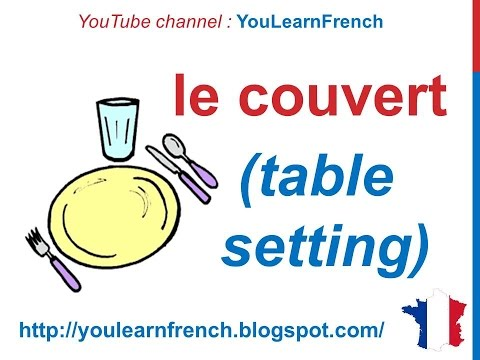 French Lesson 86 Furniture In The Dining Room Utensils Vocabulary