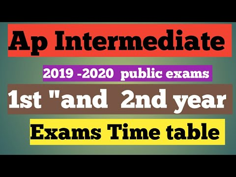 Ap inter exam time table 2020