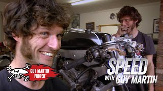 Guy starts his custom bike for the first time | Guy Martin Proper