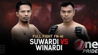 Main Event of The Night! Suwardi VS Winardi | Full Fight One Pride MMA FN 41