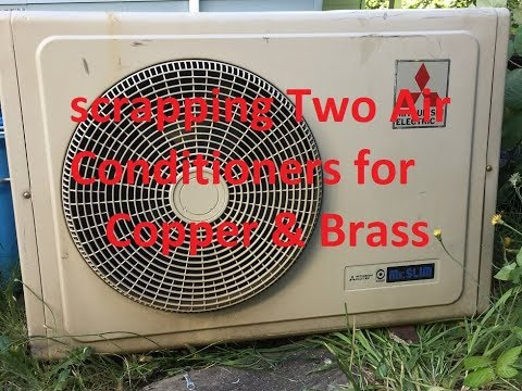 Scrapping Two Mitsubishi Mr Slim Air Conditioners