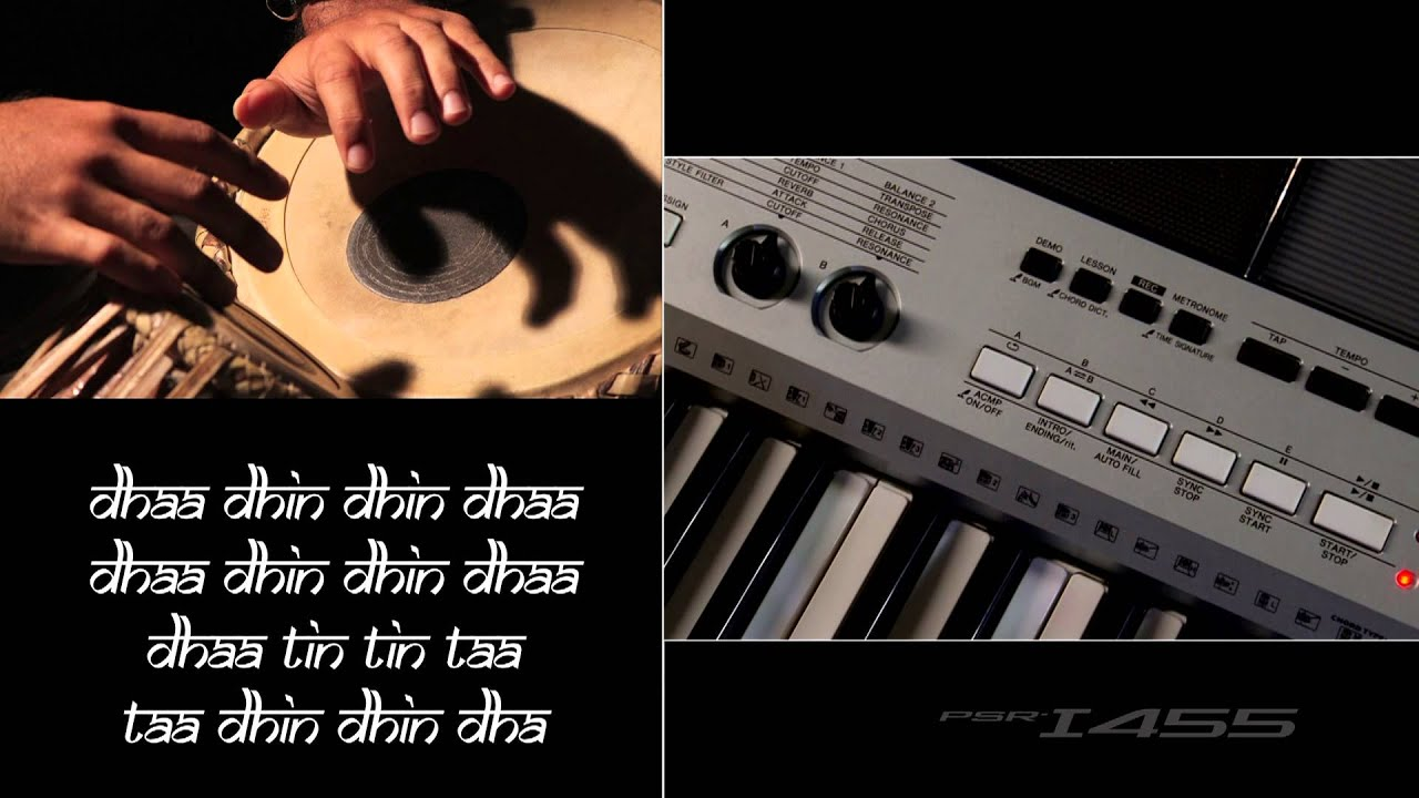 yamaha psr i455 tabla tanpura function youtube